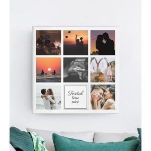 Tablou Canvas Personalizat - 8 poze + TEXT - Printbu.ro - 1