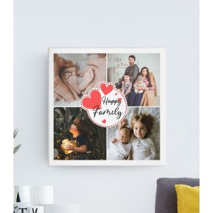Tablou Canvas Personalizat - 4 Poze - Happy Family - Printbu.ro - 1