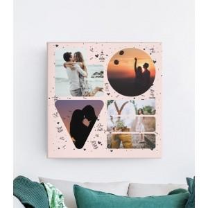 Tablou Canvas Personalizat - LOVE - 4 Poze - Printbu.ro - 1