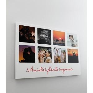 Tablou Canvas Personalizat - Mesaj si Colaj 6 Poze - Printbu.ro - 1