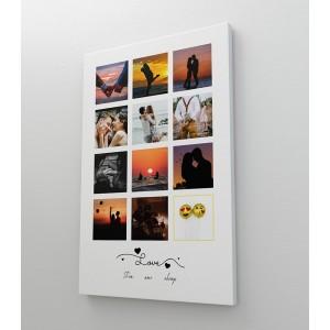 Tablou Canvas Personalizat - Love - Colaj 12 Poze - Printbu.ro - 1
