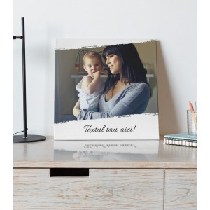 Tablou Canvas Personalizat - Brush - Poza - Text - Printbu.ro - 1