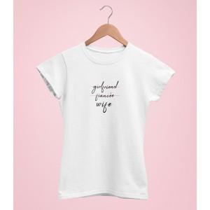 Tricou Personalizat - Girlfriend, Fiancee, Wife - Printbu.ro - 1