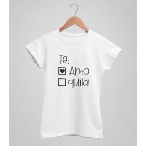 Tricou Personalizat - Te: Amo - Printbu.ro - 1