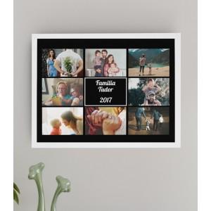 Tablou Personalizat - Familie - 8 Poze - Printbu.ro - 1
