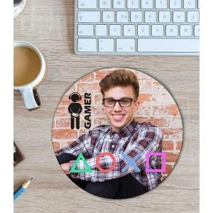 Mousepad Personalizat - Rotund - Gamer  - Poza - Printbu.ro - 1