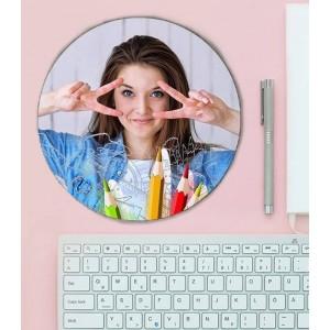 Mousepad Personalizat - Rotund - Creioane - Poza - Printbu.ro - 1