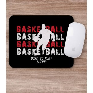 Mousepad Personalizat - Dreptunghi - Basketball si Nume - Printbu.ro - 1