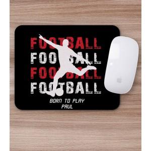 Mousepad Personalizat - Dreptunghi - Fotbal si  Nume - Printbu.ro - 2