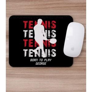 Mousepad Personalizat - Dreptunghi - Tennis + Nume - Printbu.ro - 1