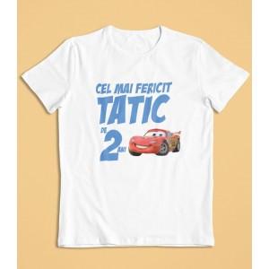Tricou Personalizat Barbati - Cel mai fericit tatic - Fulger McQueen - Printbu.ro - 1