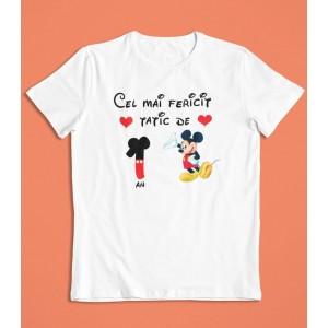 Tricou Personalizat Barbati - Cel mai fericit tatic de 1 an - Mickey Mouse - Printbu.ro - 1
