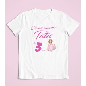 Tricou Personalizat Barbati - Cel mai mandru tatic - Printesa Sofia - Printbu.ro - 1