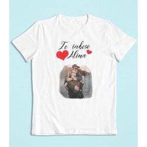 Tricou Personalizat Barbati - Te iubesc - Nume + Poza - Printbu.ro - 1
