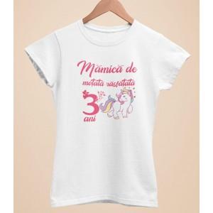 Tricou Personalizat Femei - Mamica de motata rasfatata de 3 ani - Printbu.ro - 1
