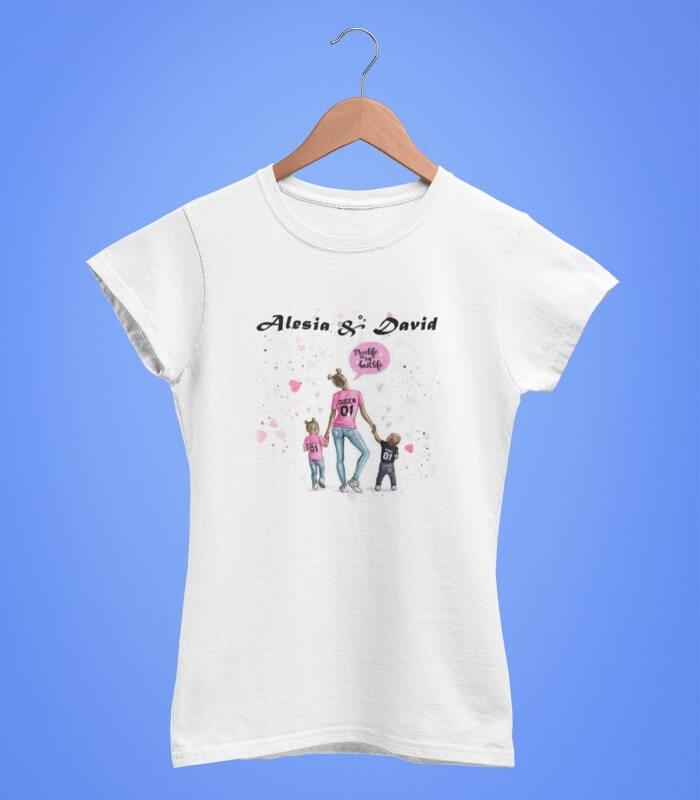 Tricou Personalizat Femei - Queen Mom - Nume - Printbu.ro - 1