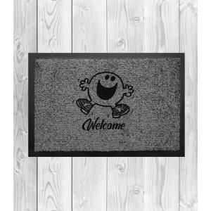 Covoras Intrare Personalizat - Smiley - Welcome - Printbu.ro - 1
