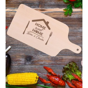 Tocator Personalizat - Home Sweet Home - Nume - Printbu.ro - 1