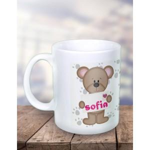 Cana Personalizata - Fosforescenta - Ursulet - Poza cu Nume - Printbu.ro - 1