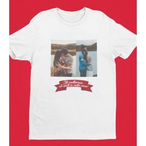 Tricou Personalizat Barbati - Iti Multumesc Ca Existi In Viata Mea - Doua Poze - Printbu.ro - 1