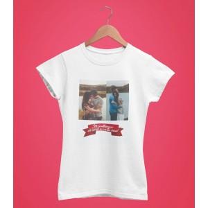 Tricou Personalizat Femei - Iti Multumesc Ca existi In Viata Mea - Doua Poze - Printbu.ro - 1