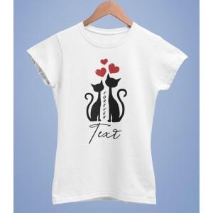 Tricou Personalizat Femei - Cats Love - Printbu.ro - 1