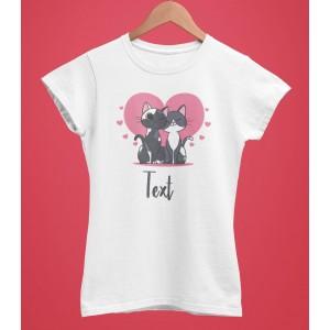 Tricou Personalizat Femei - Cats Love 2 - Printbu.ro - 1
