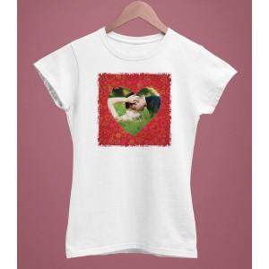 Tricou Personalizat Femei - Poza Inima - Printbu.ro - 1