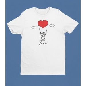 Tricou Personalizat Barbati - Heart Balloon - Printbu.ro - 1