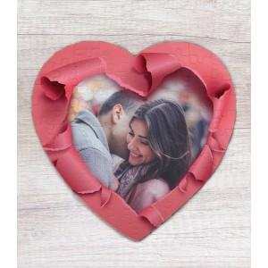 Puzzle Personalizat - Magnetic - Inima - LOVE - Poza - Printbu.ro - 1