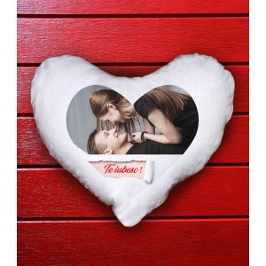 Perna Personalizata - Inima - Pufoasa - Te iubesc! - Poza - Printbu.ro - 1