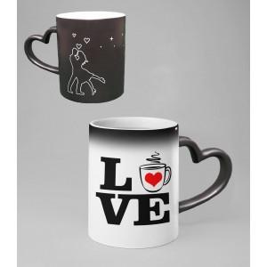 Cana Personalizata Termosensibila - Inima - LOVE - Nume - Printbu.ro - 1
