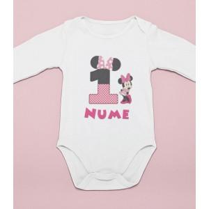 Body Personalizat - 100% Bumbac - Minnie - Nume - Printbu.ro - 1