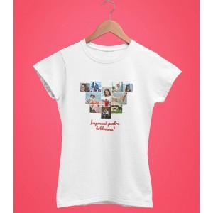Tricou Personalizat Femei - Set de 11 Poze in Forma de Inima si Text - Printbu.ro - 1