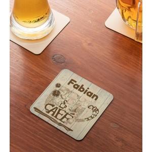 Suport Pahar Personalizat - Cafe - Nume - Printbu.ro - 1