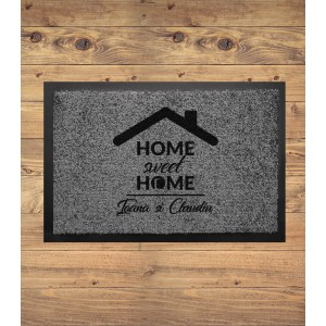Covoras Intrare Personalizat - Home Sweet Home - Nume - Printbu.ro - 1