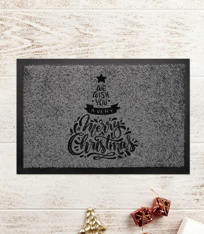 Covoras Intrare Personalizat - Merry Christmas - Printbu.ro - 1