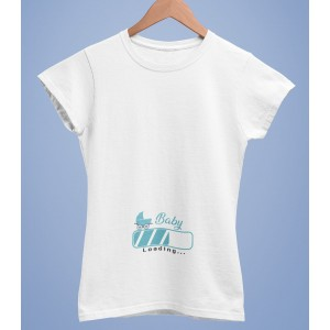 Tricou Personalizat Femei - Baby Loading - Printbu.ro - 1