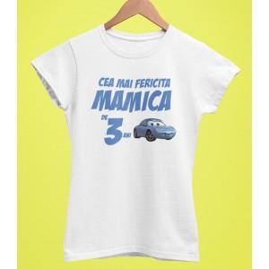 Tricou Personalizat Femei - Cea mai fericita mamica de 3 ani - Carrera Sally - Printbu.ro - 1