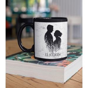Cana Personalizata Neagra - LOVE - Doua Nume - Printbu.ro - 1