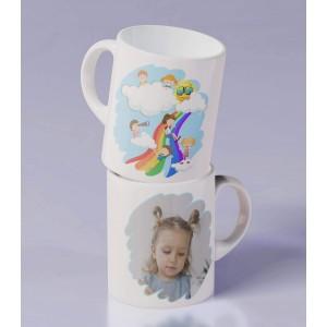 Cana Personalizata Mica - Simpla - Copii pe Curcubeu - Poza - Printbu.ro - 1