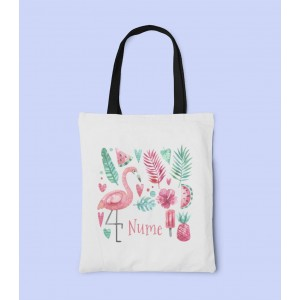Geanta Personalizata Tote - Flamingo - Nume - Printbu.ro - 1