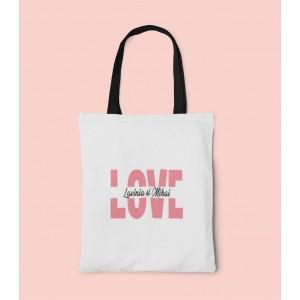 Geanta Personalizata Tote - Love - Nume - Printbu.ro - 1