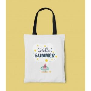 Geanta Personalizata Tote - Hello Summer - Printbu.ro - 1