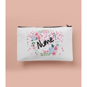 Portfard Personalizat - Flowers - Nume - Printbu.ro - 1