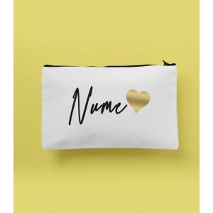 Portfard Personalizat - Gold Heart - Nume - Printbu.ro - 1