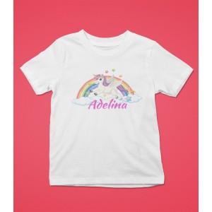 Tricou Personalizat Fete - Unicorn - Nume - Printbu.ro - 1