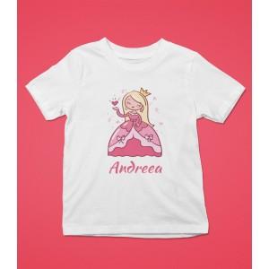 Tricou Personalizat Fete - Printesa - Nume - Printbu.ro - 1
