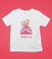 Tricou Personalizat Fete - Printesa - Nume