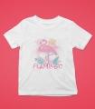Tricou Personalizat Fete - Flamingo - Nume